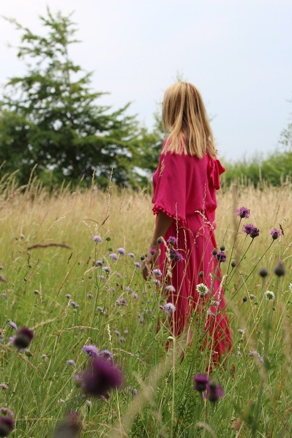 Wearing A Pink Dress In a Field It Must Be Summer!
