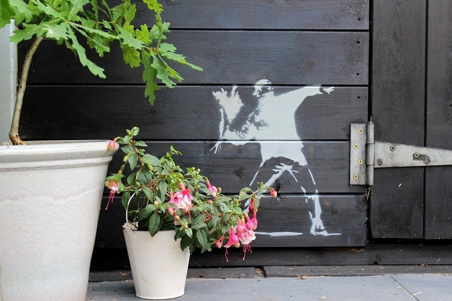 How to Graffiti your Garden Shed with Banksy