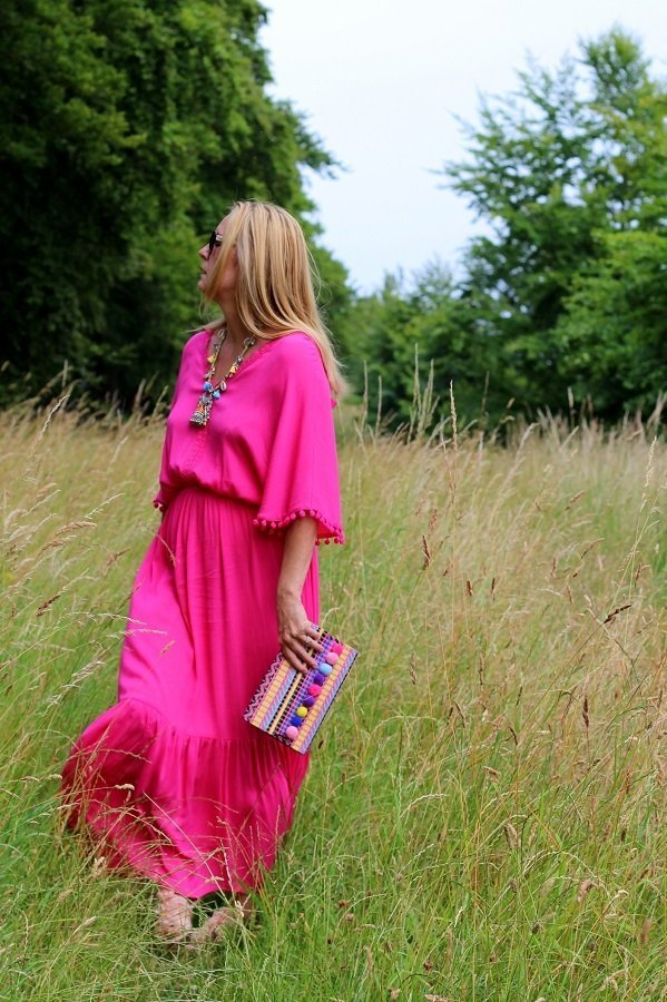 Wearing A Pink Dress In a Field It Must Be Summer!