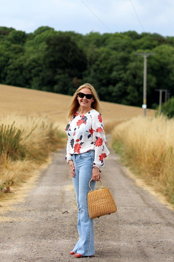 A Pink Gin Lunch A Ruffled Blouse & A Corn Field