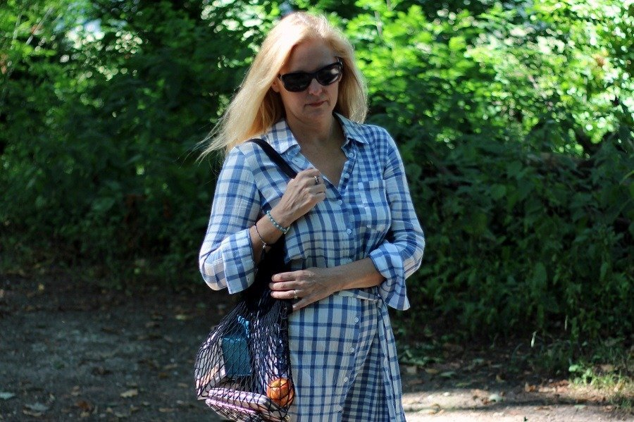 Gingham Shirt Dress Perfection from Marks & Spencer