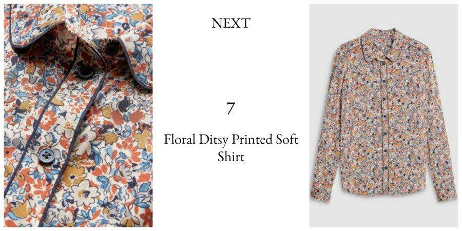 Next autumn winter floral printed shirt