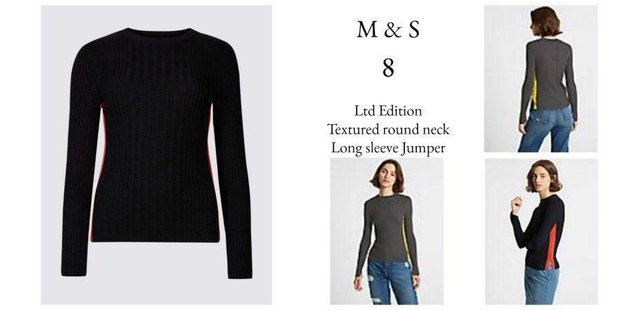 Textured M & S long sleeve jumper LTD Edition