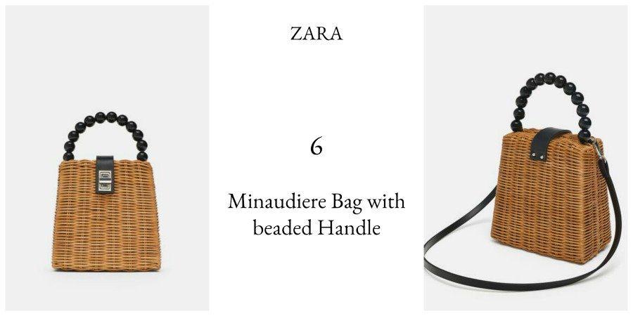 Zara Minaudiere bag with beaded handle