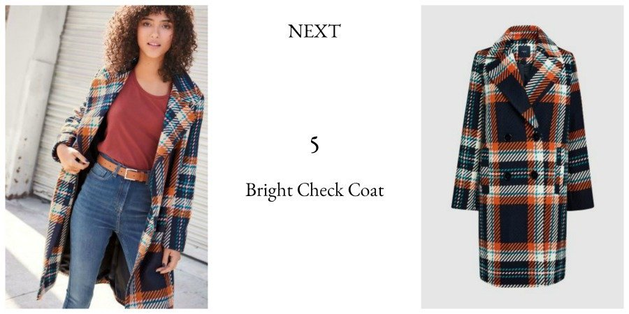 next bright check coat autumn winter collection