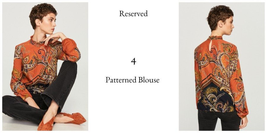 reserved patterned blouse autumn winter 2018