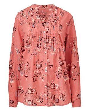 pink print blouse