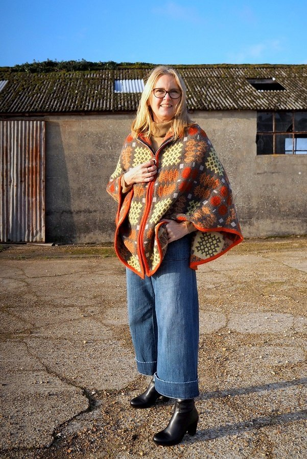 Wearing A Vintage Welsh Blanket Cape in a Modern Style