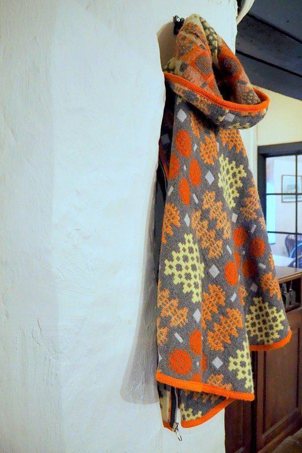 Wearing A Vintage Welsh Blanket Cape in a Modern Style