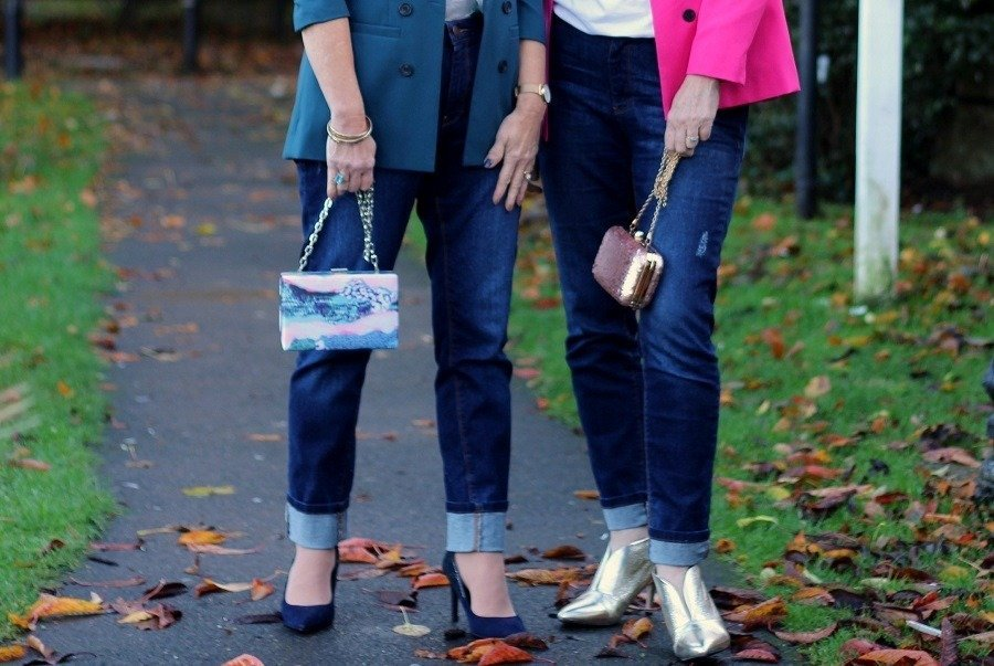 Too Old For Twinning? Take 2 Style Bloggers Add Jeans & Jacket
