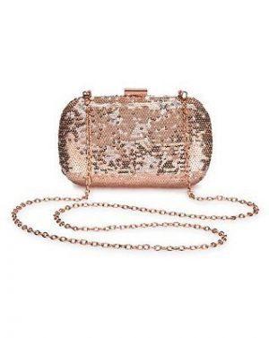 rose gold sequin bag