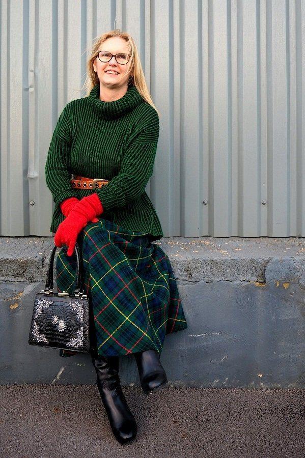 Outlander Inspired Vintage Plaid Skirt