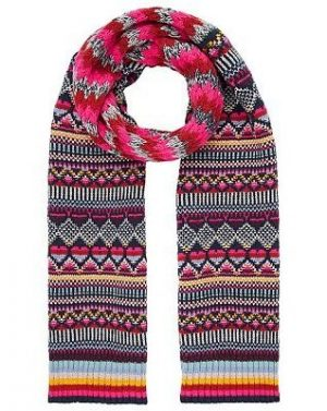 Bright patterned scarf