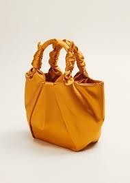 Ochre Satin Bag
