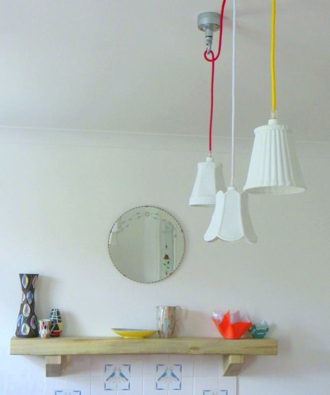 Our Home: Eclectic Industrial Lighting made by Marc.