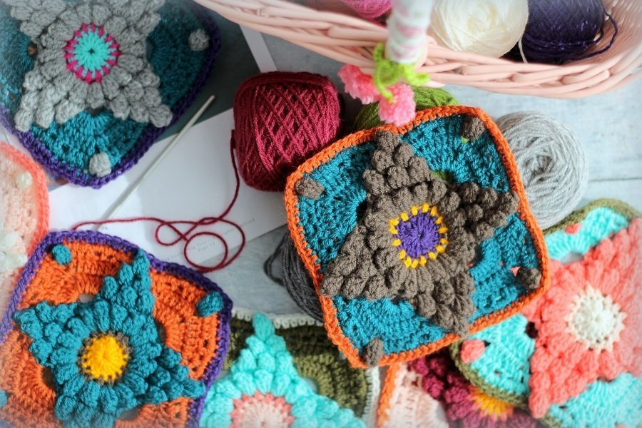 Currently Creating A Crochet Garden Blanket vintage walrus blanket pattern
