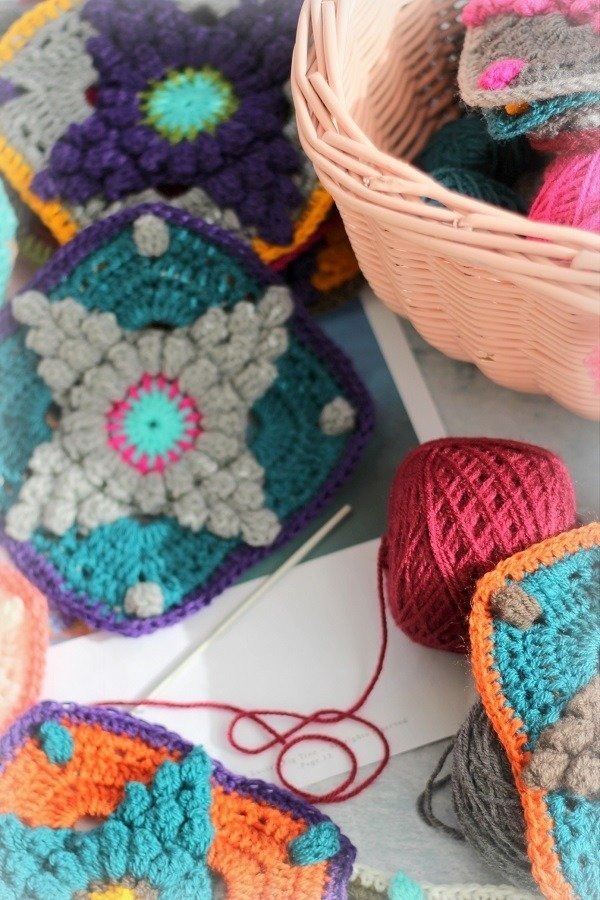 Currently Creating A Crochet Garden Blanket