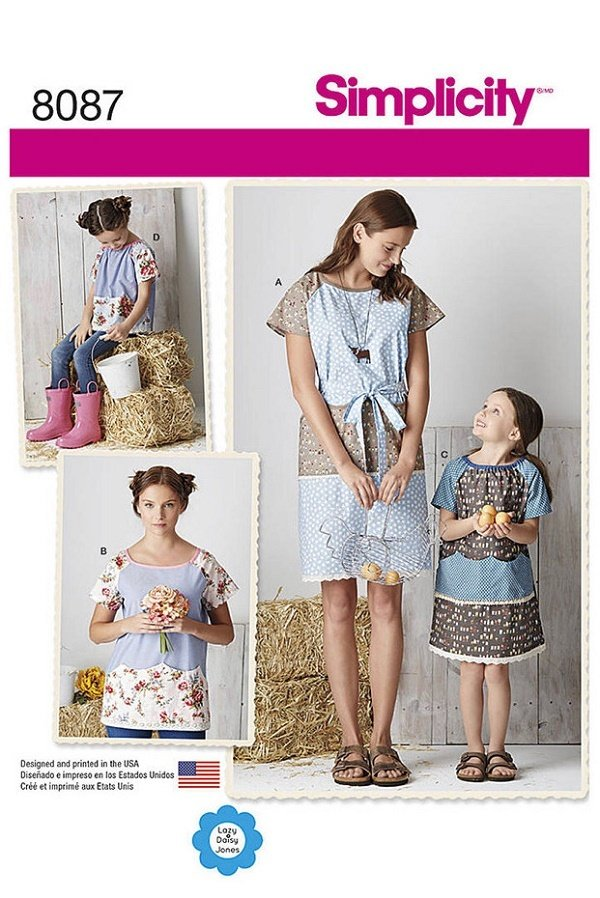 lazy daisy Jones sewing pattern 8087