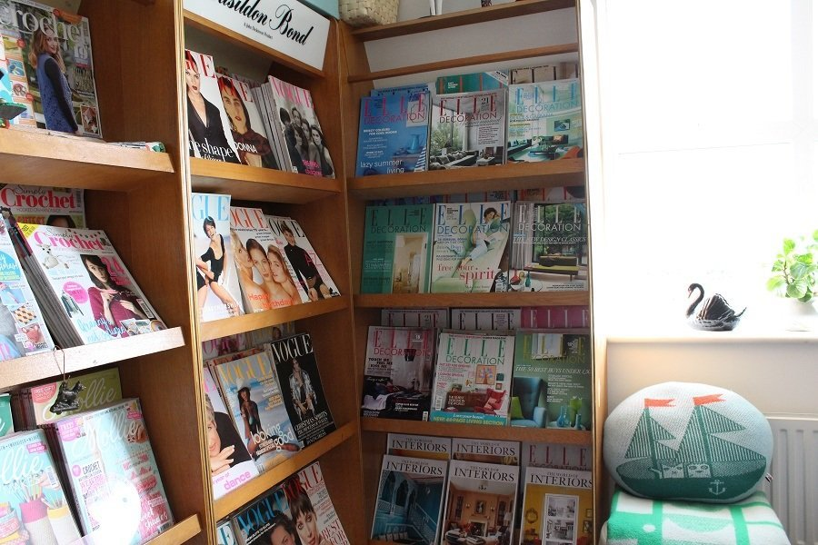 old Vogue Magazines and Elle decoration