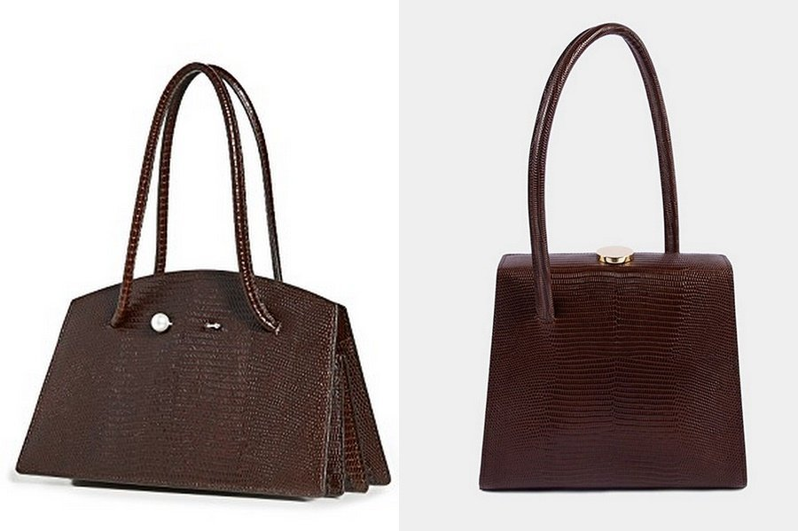 little liffner brown lizard handbags