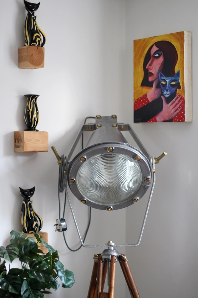handcrafted vintage light