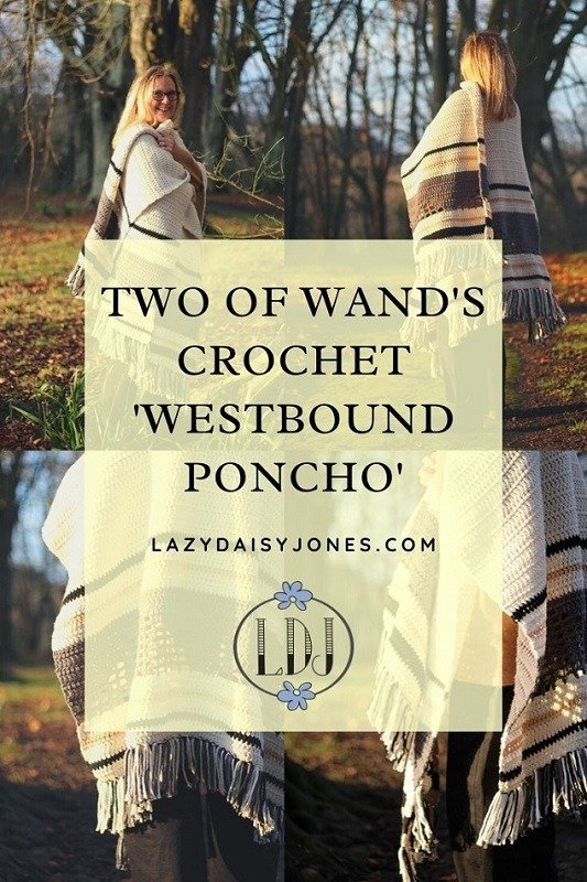 Westbound poncho pattern by two of wands a review
