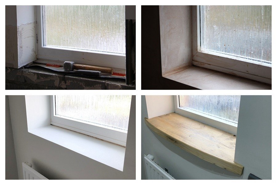 window ledge finished