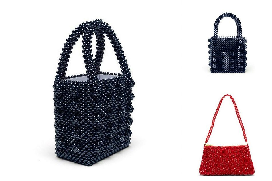 Shrimp designer beaded bags