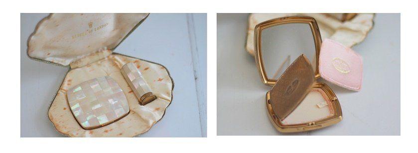 vintage shell compact