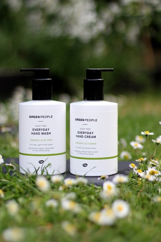 Green people hand wash and cream duo