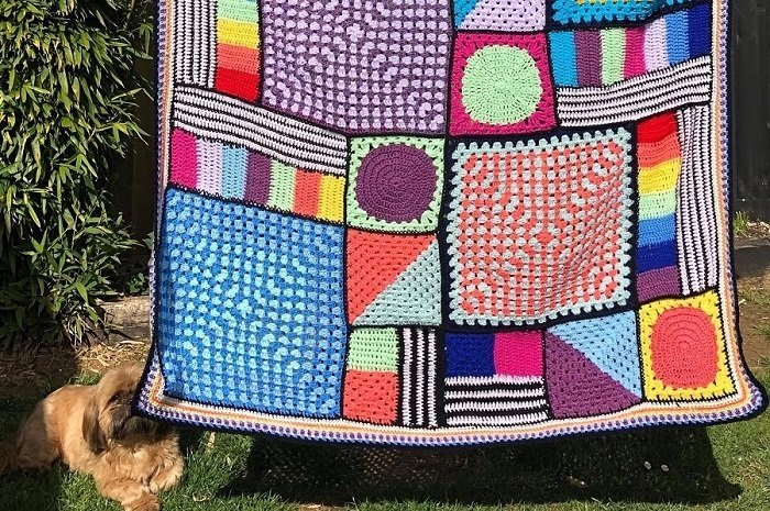 Memphis Style Crochet Blanket for a Teenager