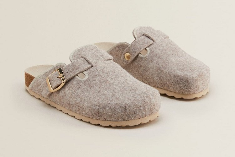 Felt clog slippers from Zara Home