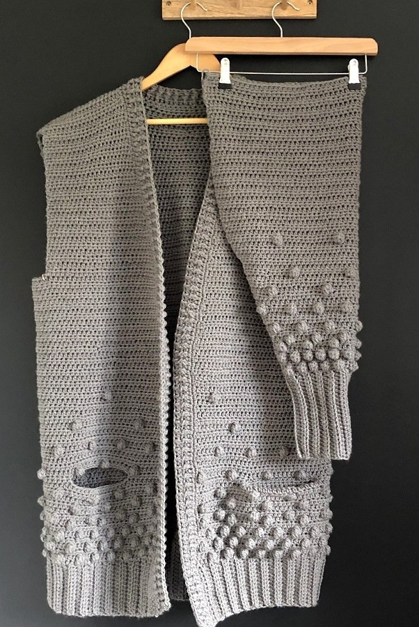 Crochet pattern rainfall cardigan by little golden Nook