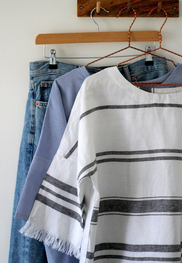 sewing the wiksten shift top in linen