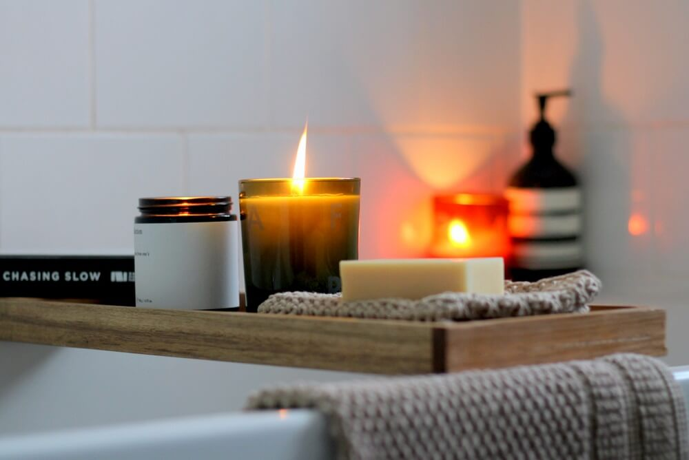 Cosy nights in with a candlelit bath