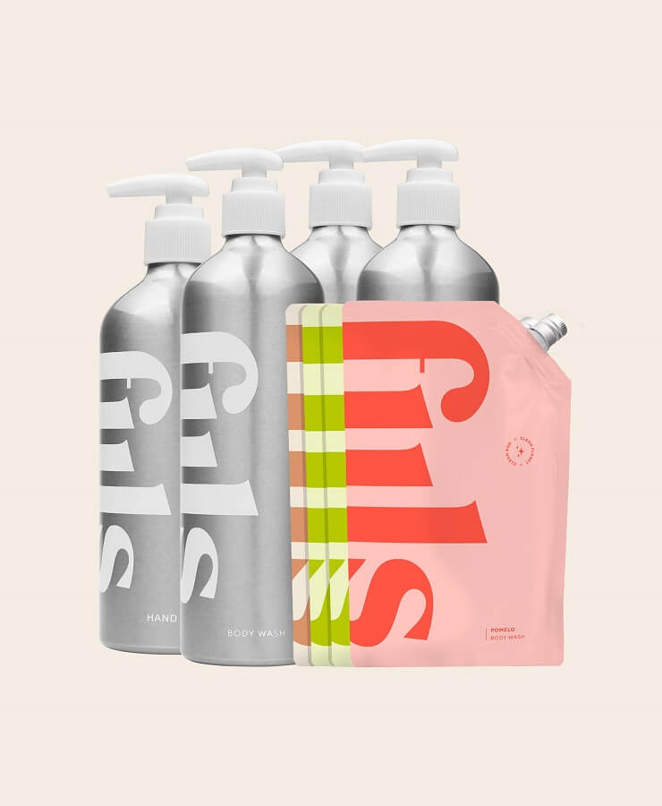 fiils bottles and refill pouches