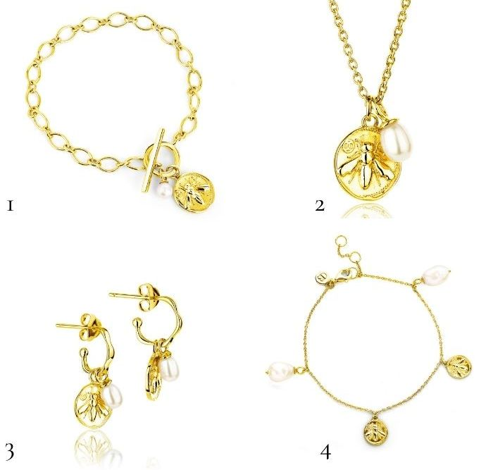 4 pieces of Claudia Bradby Jewellry from the honey bee collection