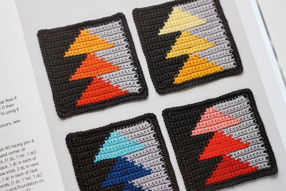 flying birds crochet block