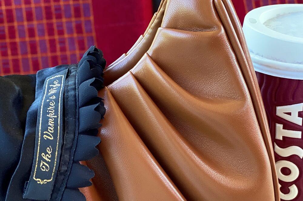 Nutella gabbi bag by JW PEI on a train to London