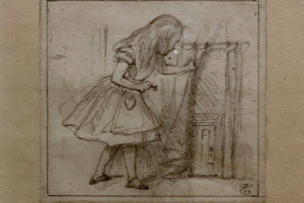 original John Teniel illustration for Alice in Wonderland