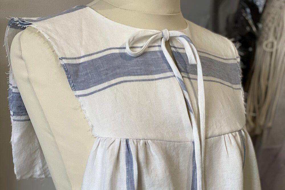 linen vali dress sewn by lazy daisy jones