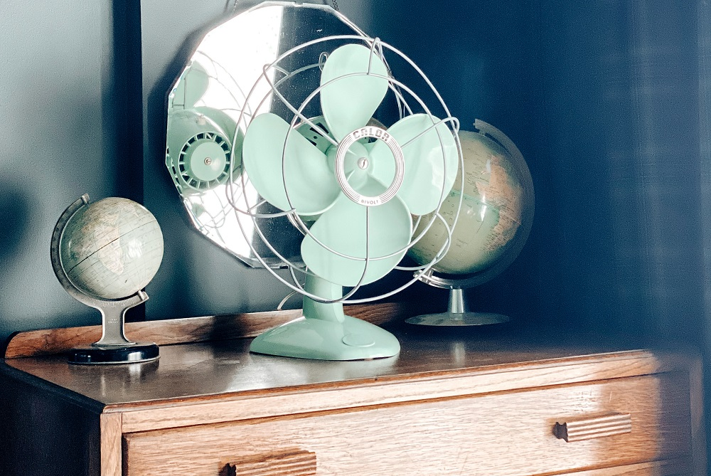 vintage french electric fan